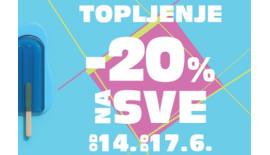 SUPER AKCIJA – 20% NA SVE!
