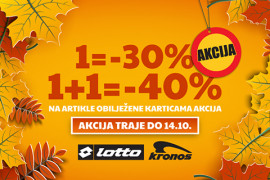 POPUST DO 40% NA LOTTO I KRONOS KOLEKCIJU