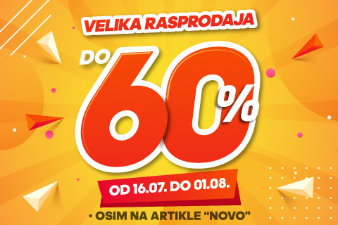 VELIKA SPORT REALITY RASPRODAJA DO 60%