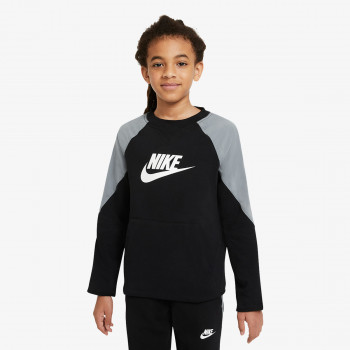 NIKE Dukserica B NSW MIXED MATERIAL CREW FT