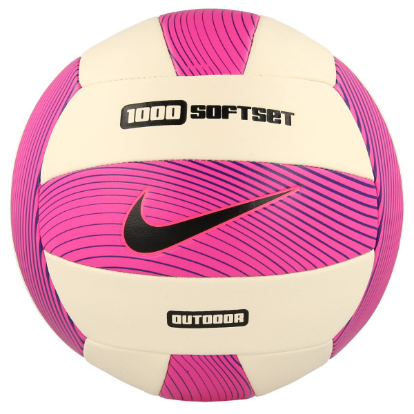 JR NIKE Lopta NIKE 1000 SOFTSET OUTDOOR VOLLEYBALL DEFLATED HYPER PINK/WHITE/HYPER GRAPE/BLACK